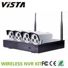 4CH Outdoor 720p P2P IP Kamera Wireless Wifi NVR-Kit