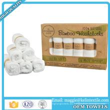 Paquete de regalo antibacteriano 100% orgánico de la toalla del toallita del bebé de los productos del bambú