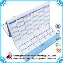 2014 Diseño personalizado y calendario de alta calidad / impresión de calendario fotográfico de pared de alta calidad.