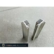Aluminiumprofile für Kühlkörper eloxiertes Silber