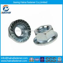 DIN6923 M16 zinco chapeado serrilhado Flange Nut Flange Made in China