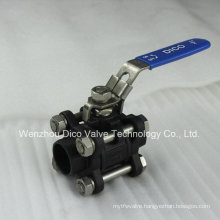 Carbon Steel 3 Pieces Ball Valve with Ce