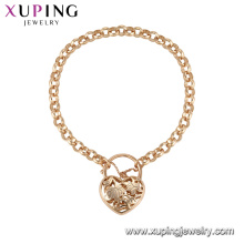 71862 Xuping simple estilo fantasía amor pulsera en forma de corazón joyas de oro