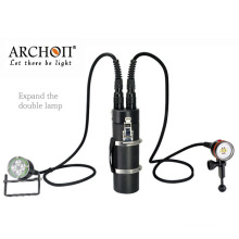 Underwater Diving Flashlight Torch CREE LED with Rechargeable Battery Pack