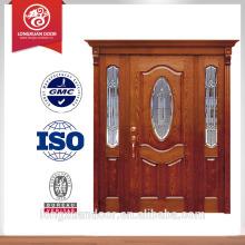 80 polegadas porta de entrada principal exterior estrutura de porta de madeira melhor madeira para porta exterior porta de entrada de madeira com vidro Escolha de qualidade