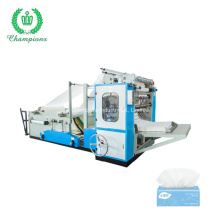 4 Line V Folding Facial Tissue Paper Manufacturing Machine Have Engineer Installation Service