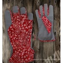 Guante de jardín-guante de tela de jardín-guante de cuero sintético-guante de trabajo-guante de seguridad