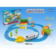 Intelligent Toy B/O Railway Train Toys with Sound (H6964140)