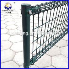 pvc coated/PE /powder coating welded wire mesh fence