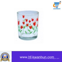 Nice Glass Cup with Decal Flower Glassware Kb-Hn0733