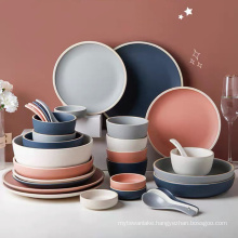 Ceramic Dinner plates Steak Food Plate Dessert Dishes Nordic Style Tableware Dinner Set Salad Soup Bowl for Kitchen Hotel
