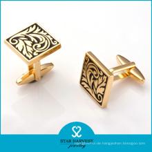 Luxus Gold Plating Kupfer Manschettenknöpfe für Treffen (BC-0014)