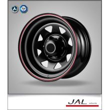 New Design Hot Sales Black Finish Trailer Wheel Steel Car Wheels Rim