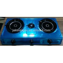 cuisinière à gaz tabel infrarouge triple brûleur en acier inoxydable, cuisinière à gaz