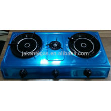 stainless steel triple burner infra red tabel gas stove, gas cooker
