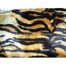 Corto felpa con tigre tatuaje impreso para manta y la ropa