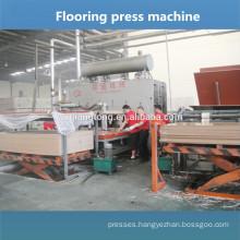 Parquet floor production line / wooden floor panel press machine