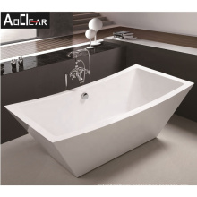 Aokeliya boat-shaped extra large whirlpool bathtub 88X180X63cm freestanding bathtub coated with fiber glass
