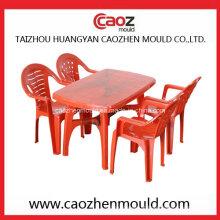Cadeira Injeted plástico do braço / molde retangular da tabela
