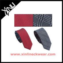 Gravata reversível por atacado dos verificadores lisos para homens gravatas de seda
