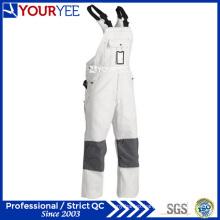 Customized Painters White One Piece Work Wear Bib Overall (YBD121)