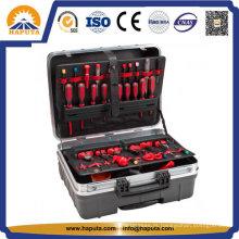 Maleta de ferramentas portátil de ABS preto, caso o equipamento