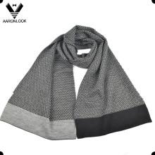 Moda jacquard 30% lana 70% acrílico hombres invierno bufanda