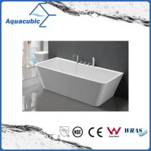 Bathroom Square Acrylic Free-Standing Bathtub (AB1516W)