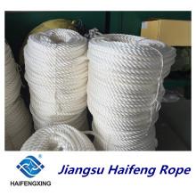 Cuerda de amarre de la cuerda del filamento del polipropileno de 3 hilos