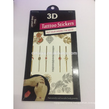 3D Design Temporary Tattoo Sticker Decals
