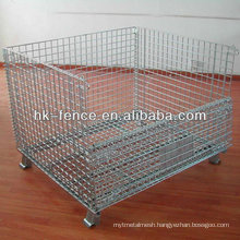 1200MMx800MMx800MM Galvanized Foldable Steel Wire Container