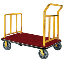 Foldable hotel airport luggage cart