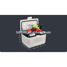 HF-15L (105) DC 12 V / AC 220 V auto kühlschrank auto kühler mini tragbare hause und auto doppelgebrauch auto kühlschrank (CE zertifikat)