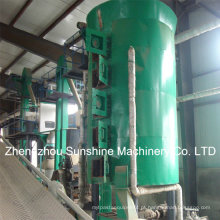 Extração do óleo de milho do extrator solvente do germe de milho