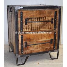 Armário de gaveta rústica Loft Industrial