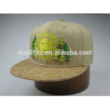 6panel with emboridery fitted bucker snapback cap made in china