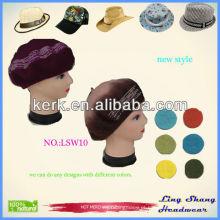 LSW10 Ningbo Lingshang New Design Custom malha lã chapéu e boné