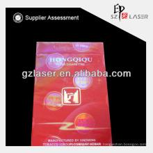 Hologram bopp plastic wrapping film roll or cigarette