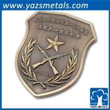 El escudo personalizado desafío monedas de metal personalizado moneda