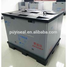 Caja plástica plegable y plegable de 4 vías / recipiente Etiqueta RFID opcional