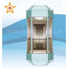 Лифт панорамный панорамный лифт с синим цветом