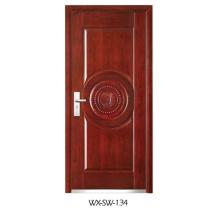 Expert Supplier Steel Wooden Door (WX-SW-134)