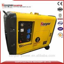 Kanpor ISO Certificate 1500/1800 7kw Portable Diesel Generator with Best Price