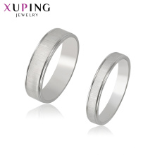 R-71 Xuping wholesale jewelry supplies white gold ring setting+silver color stainless steel  material jewelry joyas al por mayor