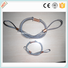 Медная пряжка из нержавеющей стали / углеродистая сталь whipcheck безопасности кабель