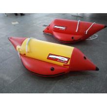Barco de banana inflável individual com trenó aquático para 1 pessoa