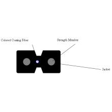 Low Friction Drop Fiber Optic Cable