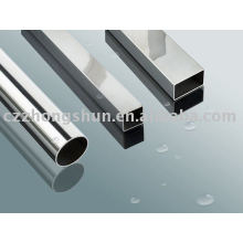 Bright finished square steel tube/pipe BA pipe polished food industry stainless