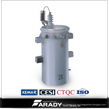 11kv 25kVA Aceite Immsered Sobrecarga Tipo Fase Única Distribución De la Energía Csp Precio Del Transformador