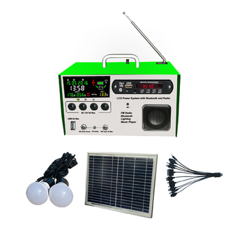 10W Lcd draagbare Solar Light Kits
